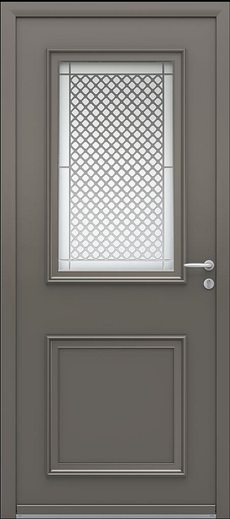 Portes d 39 entr e aluminium blennie 80 swao for Portes entree alu vitree