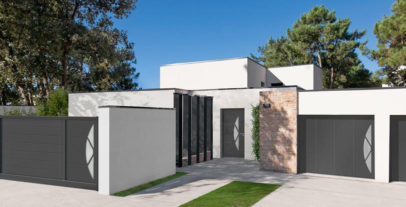 Portes d 39 entr e aluminium crazy swao - Porte entre maison et garage ...