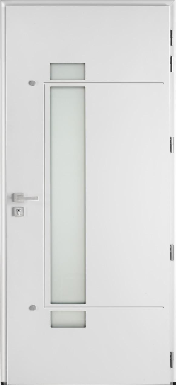Portes d 39 entr e aluminium glossy 80 swao for Epaisseur porte d entree