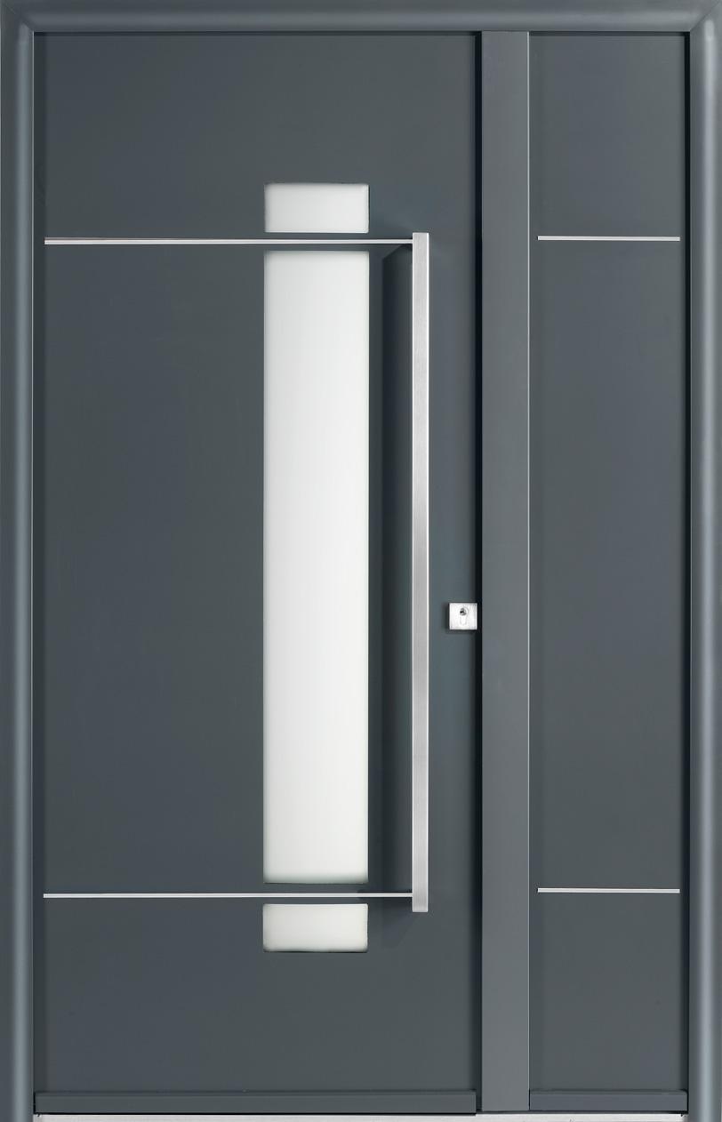 Portes d 39 entr e aluminium glossy swao for Porte exterieur aluminium prix