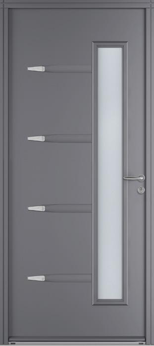 portes d 39 entr e acier silver daisy swao. Black Bedroom Furniture Sets. Home Design Ideas