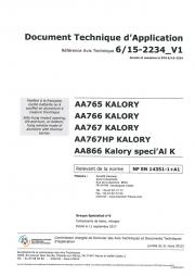 DTA frappe aluminium - Primo et Optimo