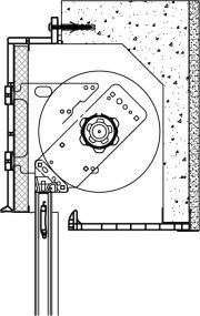 Coupe de principe 1/2 linteau frappe alu - A61704