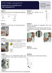 Montage de la poignée Easy2 sur coulissant PVC