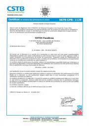 Certificat portes PVC sur issues de secours