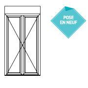 ALTIMO PVC à frappe - porte fenêtre serrure 2 vantaux seuil alu PMR - P4315214