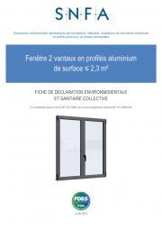 FDES fenêtre 2 vantaux < 2,3 m²