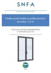 FDES fenêtre aluminium > 2,3m²