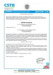 Certificat portes grand trafic ALUMINIUM sur issues de secours