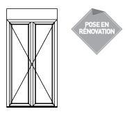 ALTIMO PVC à frappe - porte fenêtre crémone 2 vantaux seuil alu - P4321211