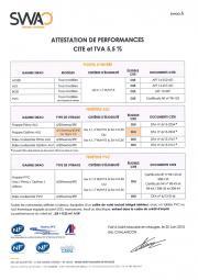 Attestation de performances CITE et TVA 5,5 %