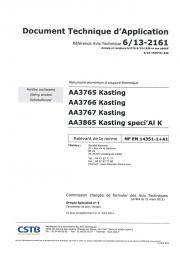 DTA coulissant aluminium - Primo et Optimo