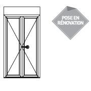 Porte fenêtre serrure 2 vantaux - P4321219