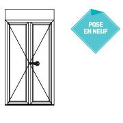 Porte fenêtre serrure 2 vantaux - P4313218