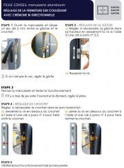 Réglage de la fermeture sur coulissant aluminium avec crémone bi-directionnelle