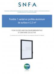 FDES fenêtre 1 vantail < 2,3m²