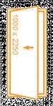 Porte 1 vantail 1000x2250
