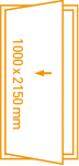 Porte 1 vantail 1000x2150