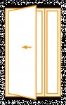 Porte 1 vantail avec fixe ou semi-fixe