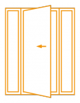 Porte 1 vantail avec fixes latéraux