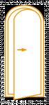 Porte 1 vantail cintrée